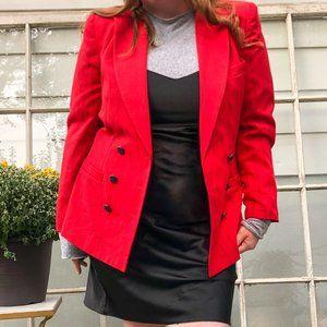 Vintage 80s Red Stripe Oversized Blazer Jacket 14